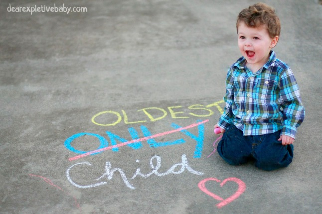 Chalk Baby Announcement